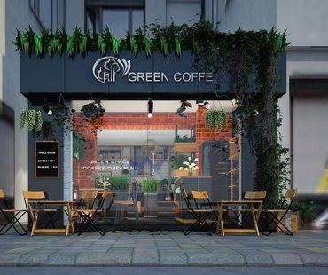 Thiết kế quán cafe Green Coffee – chị Linh – Hà Nội