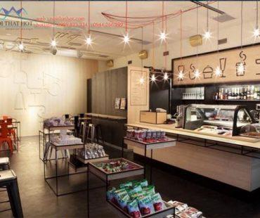 Thiết kế quán cafe 65m2 – chị Ánh