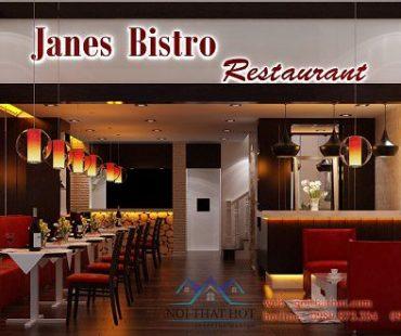 Thiết kế nhà hàng Janes Bistro – 67m2 – anh Mạnh