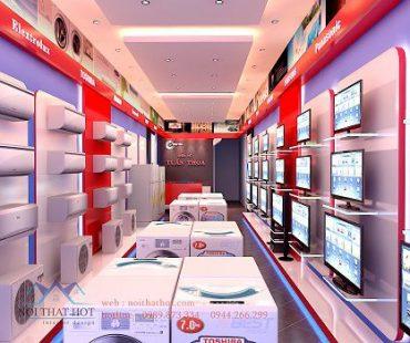 Thiết kế cửa hàng điện máy Tuấn Thoa – Mê Linh