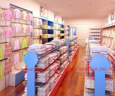 Thiết kế cửa hàng mẹ và bé BabySol (Tầng 2)