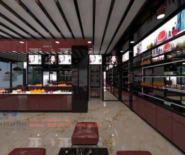 Thiết kế shop mỹ phẩm Trang's Cosmetics 80m2