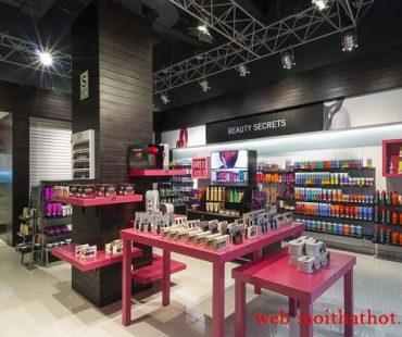 Thiết kế shop mỹ phẩm Sally Beauty – Lotte Hà Nội