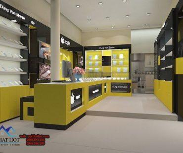 Thiết kế shop điện thoại 35m2 Dũng Vân Mobile