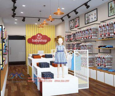 Thiết kế cửa hàng thời trang trẻ em – Long Biên