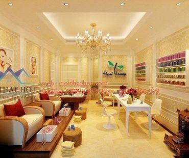 Thiết kế cửa hàng nail và mi Royal Beauty