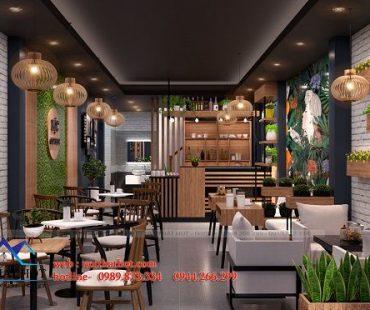 Thiết kế thi công quán cafe 40m2 tại 129 Nguyễn Trãi