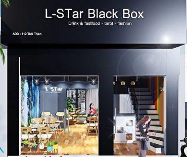 Thiết kế quán cafe kết hợp shop thời trang L-STar Black Box