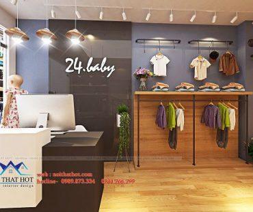 Thiết kế shop thời trang trẻ em 24.baby – Sơn Tây