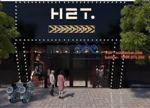 Thiết kế mặt tiền shop thời trang H2T – Xuân Thủy