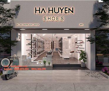 Thiết kế thi công shop giày dép Ha Huyen Shoes đẹp mắt, giá hợp lý