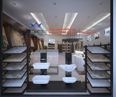 Thiết kế cửa hàng thiết bị vệ sinh Phúc An tại Vân Đình