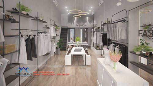 Thiết kế shop thơi trang 30m2 tại Hoài Đức
