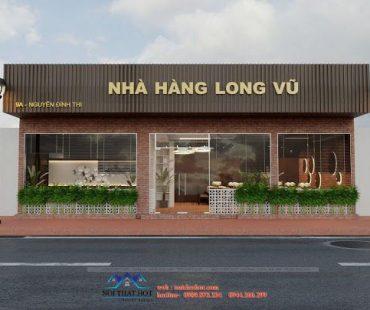 Thiết kế nhà hàng Long Vũ phong cách đơn giản, lịch sự