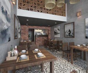Thiết kế nhà hàng Thắng Cố – chợ Nghĩa Tân