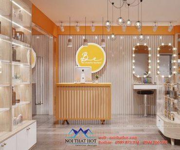 Thiết kế shop mỹ phẩm nhỏ đẹp phong cách hiện đại