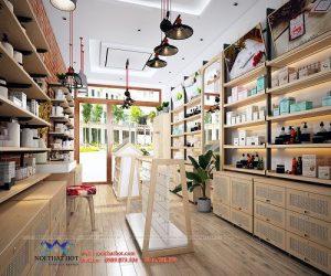 Thiết kế shop mỹ phẩm kết hợp spa X'ITA tại 35 Trần Đăng Ninh
