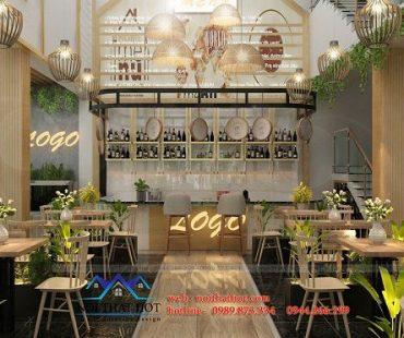 Thiết kế quán trà sữa phong cách hiện đại 160m2 – Kim Bôi – Hưng Yên