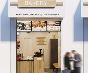 Thiết kế cửa hàng bánh mì diện tích nhỏ 46 Ô Chợ Dừa