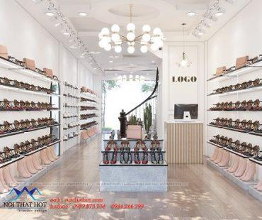 Thiết kế thi công shop giày dép nữ Trang Anh – Ninh Hiệp