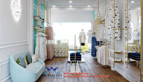 Thiết kế shop thời trang theo mệnh thủy 31B Hoàng Văn Thái