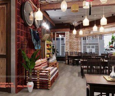 Thiết kế thi công nhà hàng BẢN LẦU QUÁN phong cách Tây Bắc