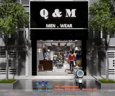 Thiết kế shop thời trang nam Q&M Hải Phòng