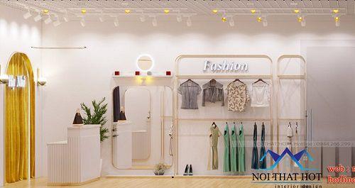 Thiết kế thi công shop thời trang Hạ Nhớ tại Vân Đồn