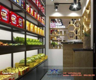 Thiết kế cửa hàng gạo và thực phẩm Food – TT Đông Anh