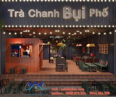 Thiết kế quán trà chanh Bụi Phố phong cách vintage