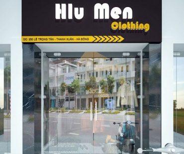 Thiết kế shop thời trang nam phong cách vintage Hlu Men