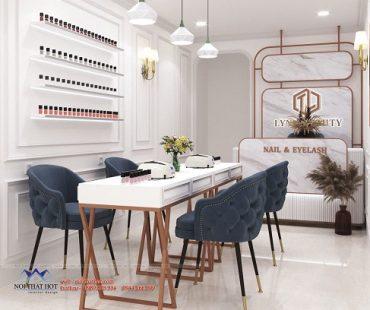 Thiết kế cửa hàng nail và spa Lynk Beauty 20m2