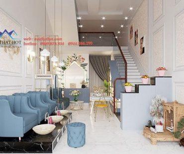 Thiết kế cửa hàng nail 40m2 tại Đan Phượng