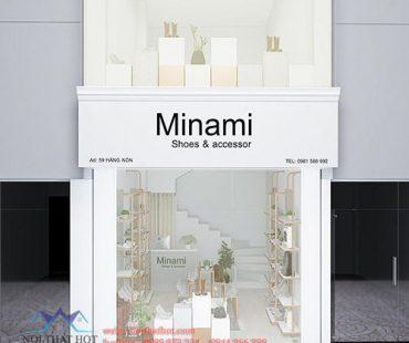 Thiết kế shop giày dép 30m2 Minami tại 59 Hàng Nón
