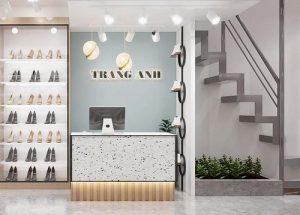 Thiết kế shop giày dép kết hợp túi xách Trang Anh