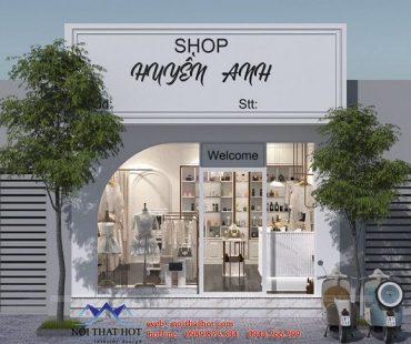 Thiết kế shop thời trang nữ phong cách sang trọng