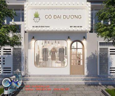 Thiết kế shop thời trang nữ Cỏ Đại Dương 110m2
