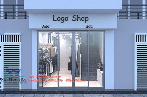 Thiết kế shop thời trang jean PU Store 20m2