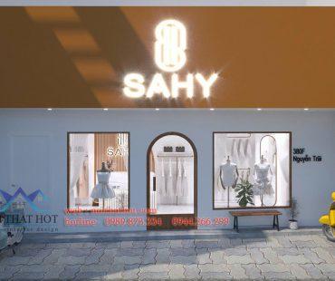 Thiết kế shop thời trang phong cách Hàn Quốc Sahy