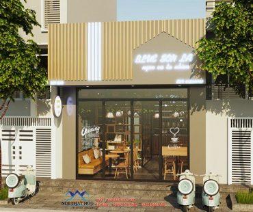 Thiết kế quán cafe 40m2 tại TT Chiềng Sinh