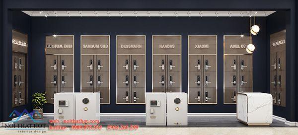 Thiết kế gian hàng bán khóa cửa thông minh 48 Tố Hữu