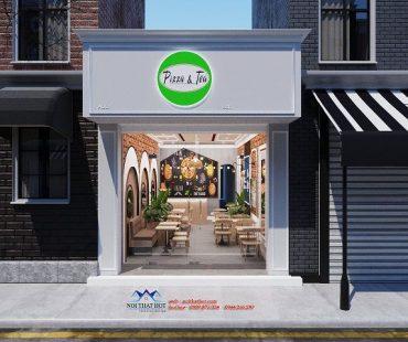 Thiết kế quán ăn nhanh Pizza & Tea – anh Trường