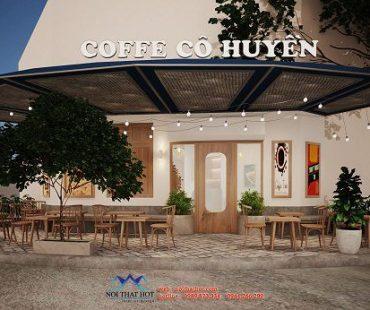 Thiết kế quán cafe vỉa hè 50m2 – cô Huyền – Hà Đông
