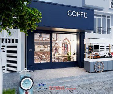 Mẫu thiết kế quán cafe cá tính của chị Linh