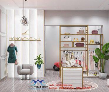 Thiết kế shop thời trang cao cấp diện tích nhỏ – chị Linh