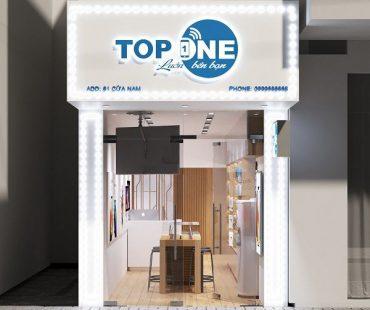 Thiết kế shop điện thoại nhỏ 25m2 – Top One