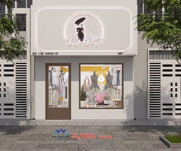 Thiết kế shop thời trang 40m2 – chị Kim – Giảng Võ
