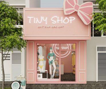 Thiết kế cửa hàng đồ lót nhỏ diện tích 14m2 – chị Hường