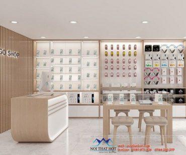 Mẫu thiết kế shop phụ kiện điện thoại đơn giản