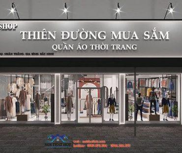 Thiết kế shop Thiên Đường Mua Sắm – Bác Ninh